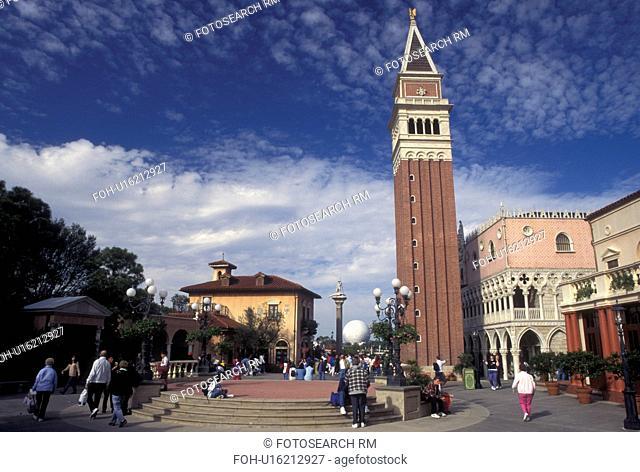 Epcot, Disney World, Orlando, FL, World Showcase, Lake Buena Vista, Florida, Italy presented at World Showcase at Epcot Center in Walt Disney World in Lake...