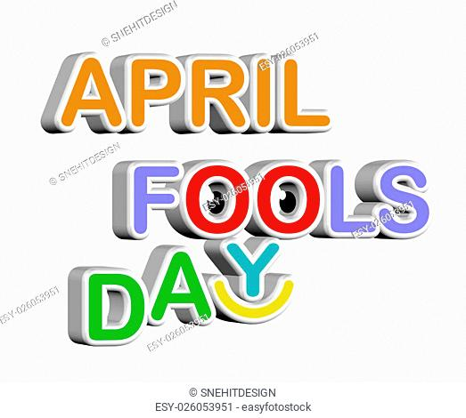 An illustration of 3d April fools day concept