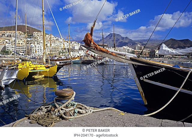 Picturesque harbour at the popular resort of Los Cristianos