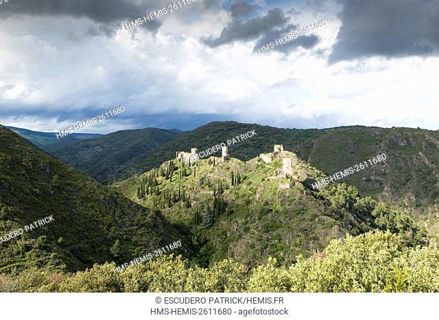 France, Aude, Pays cathare, Lastours, cathar castles of Lastours