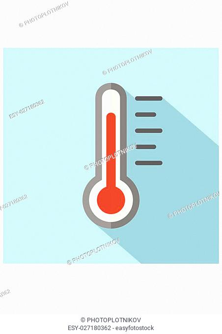 Thermometer Icon. Flat style Vector Illustration Flat design