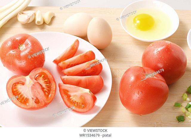 Fry tomato egg ingredients