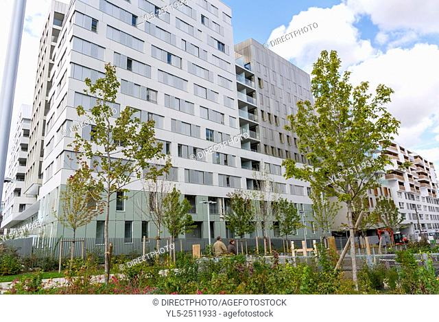 Paris, France, New Modern Architecture Project, Garden Martin Luther King, Neighborhood, Eco-Quartier Clichy-Batignolles