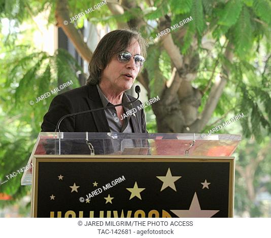 Jackson Browne attends the Hollywood Walk of Fame 2,558th star ceremony for music executive Joe Smith outside Capitol Records on August 27th, 2015 in Hollywood