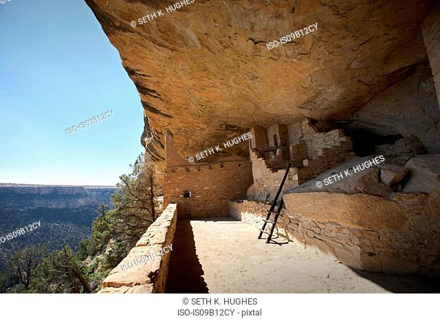 Rock dwelling ruins at Mesa Verde National Park, Colorado, USA