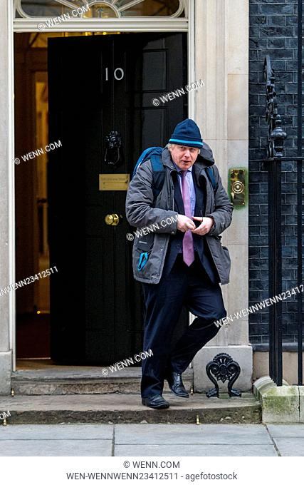 Cabinet Ministers arrive and depart from the weekly Cabinet Meeting in Downing Street, held on 26 January 2016. Featuring: Boris Johnson, Mayor of London