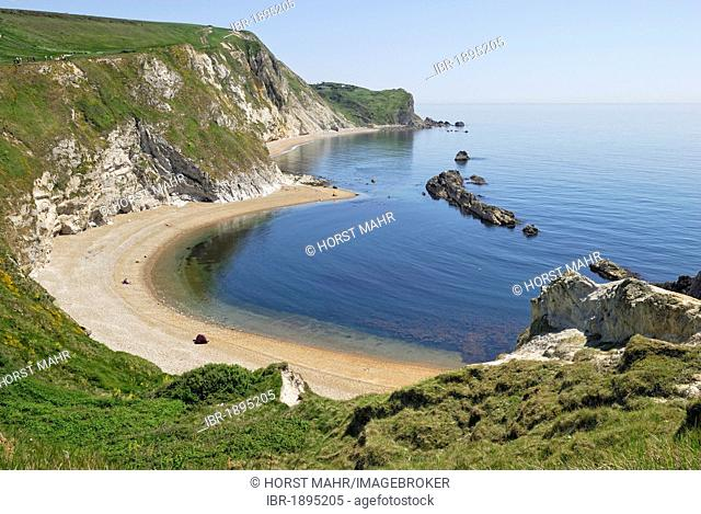 Coastal formation, Man O'War Cove, Lulworth, Dorset, southern England, England, United Kingdom, Europe