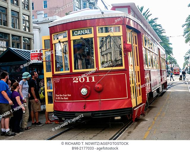 Electric Trolley cars in New Orleans