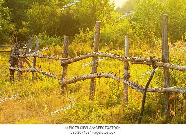 An old fence. Poland