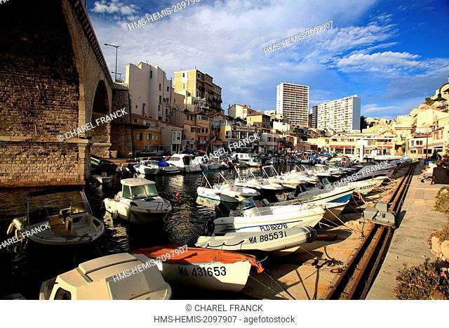 France, Bouches du Rhone, Marseille, harbour of Vallon of Auffes