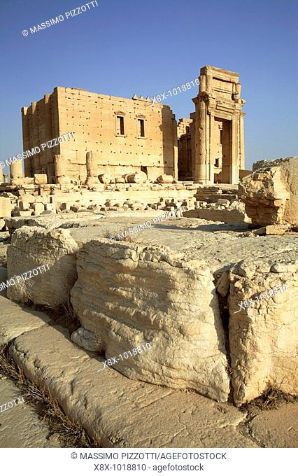 Temple of Bel in the ancient site of Palmyra, Syria
