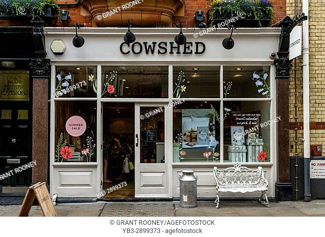 The Cowshed Spa and Beauty Product Store, Foubert's Place, Carnaby Street, London, UK