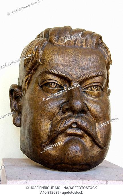 Mexico.Aguascalientes José Guadalupe Posada (1852/1913). Bust in bronze