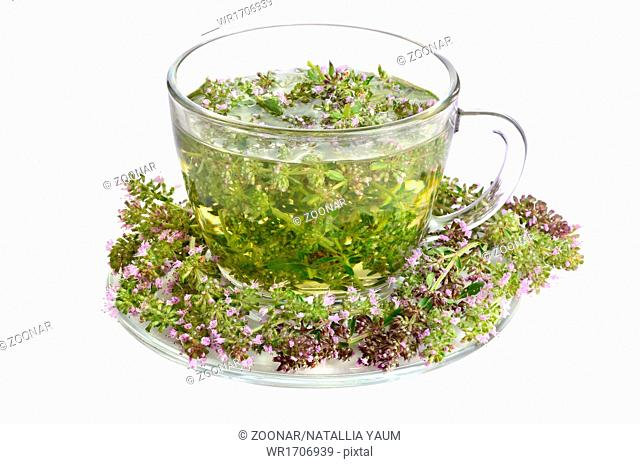 Green tea with thyme
