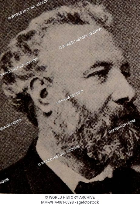 Photographic portrait of Jules Gabriel Verne (1828-1905) a French writer of popular fiction and children's books. Dated 19th Century
