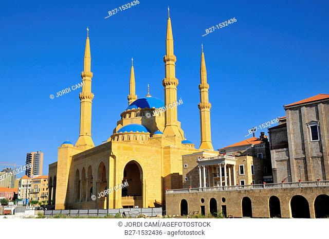 The Mohammed Al Amin Mosque at Martyr's Square  Beirut  Lebanon