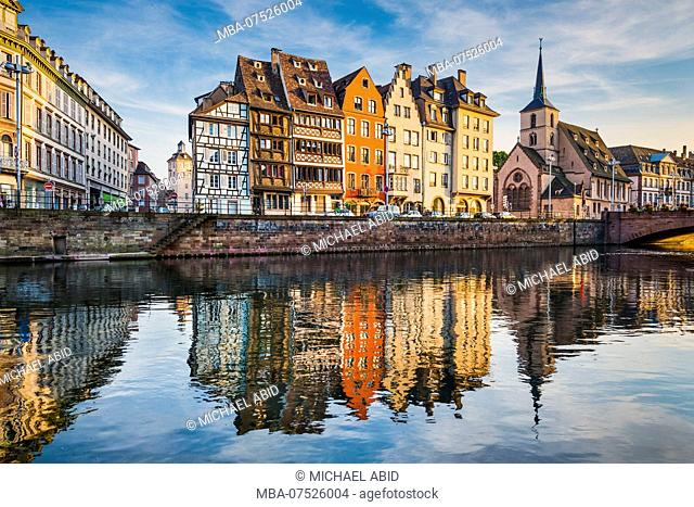 Old town of Strasbourg, France, during sunset