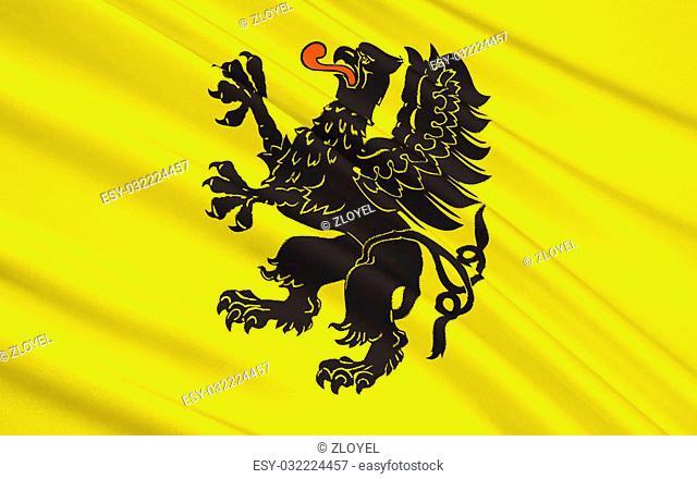 Flag of Pomeranian Voivodeship, Pomorskie Region or Pomerania Province in north-central Poland