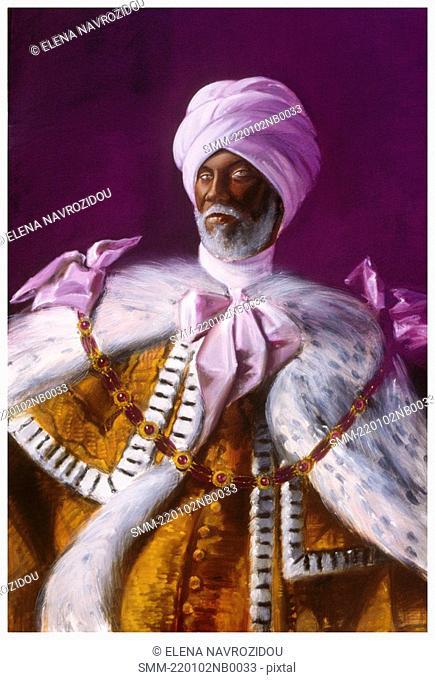 Arabian royalty in turban