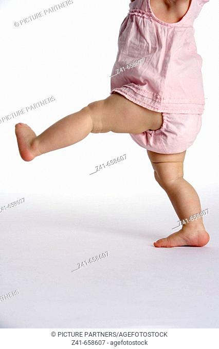 Walking legs of a child