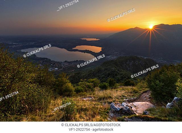 Panorama of Brianza, Lecco province, Brianza, Lombardy, Italy, Europe