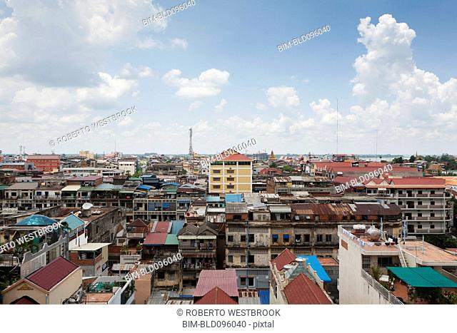 Urban Cambodian rooftops