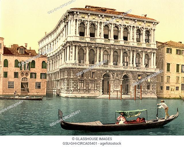 Pesaro Palace, Italy, Photochrome Print, Detroit Publishing Company, 1900