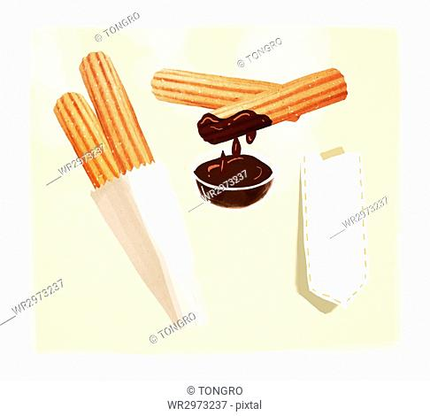 Winter snack, churros