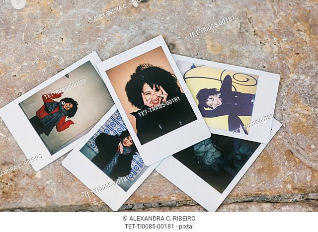 Polaroid photographs of young woman