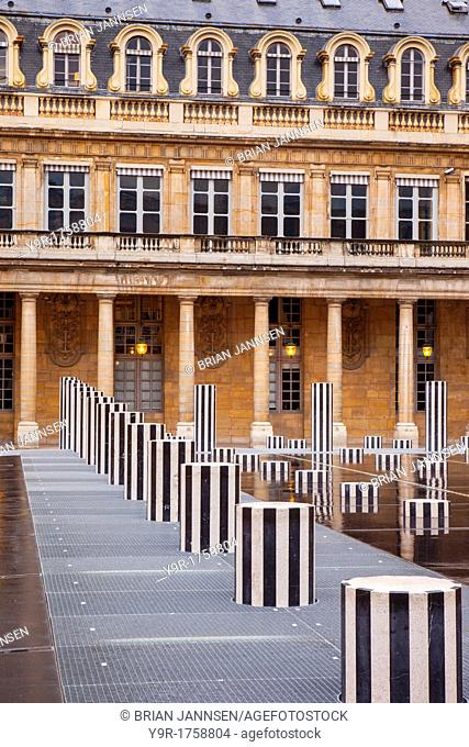 Evening at the Palais Royal, Paris France