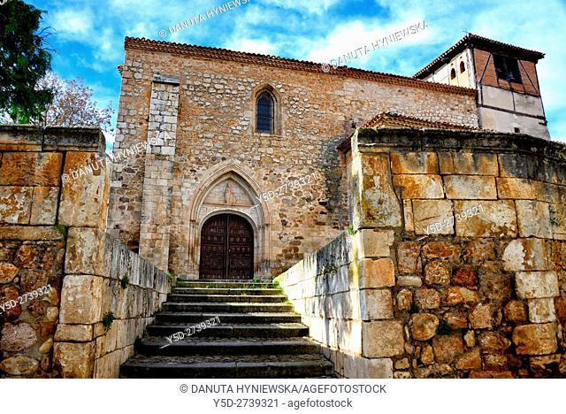 Santo Tomas church, old town of Covarrubias. Ruta del Cid, Burgos province, Castilla-León, Castile and León, Castilla y Leon, Spain, Europe