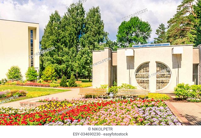 Drinking mineral water pump room. Health resort. Druskininkai, Lithuania