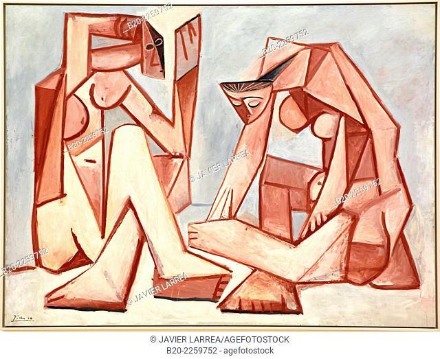 Femmes devant la mer, 1956. Pablo Picasso. Centre George Pompidou. Musee National d'Art Moderne. Paris. France