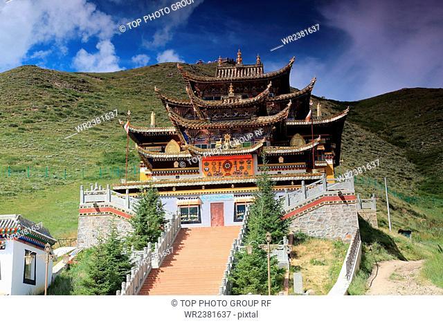 China Sichuan Province Hongyuan County Waqie Village Waqie township