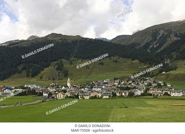 village view, celerina, switzerland