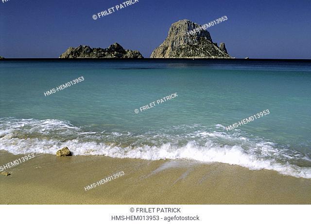 Spain, Balearic Islands, Ibiza, Es Vedra rock