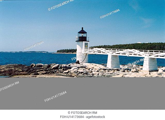 lighthouse located at Marshall Point , Maine, United States