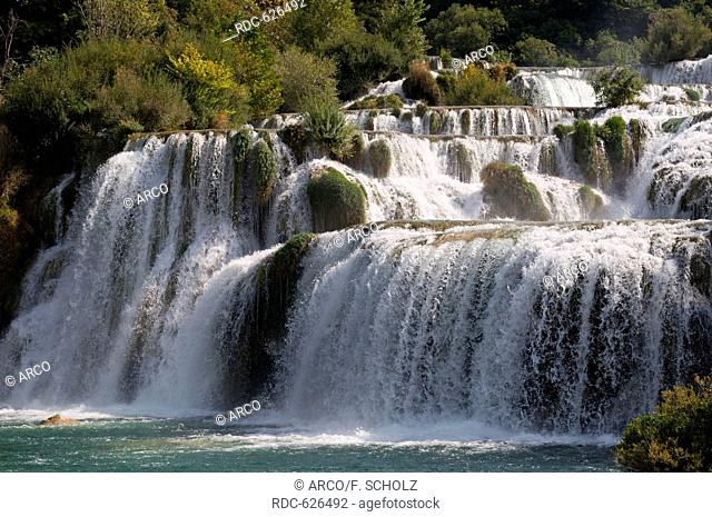 National park Krka waterfalls, Sibenik-Knin, Dalmatia, Croatia