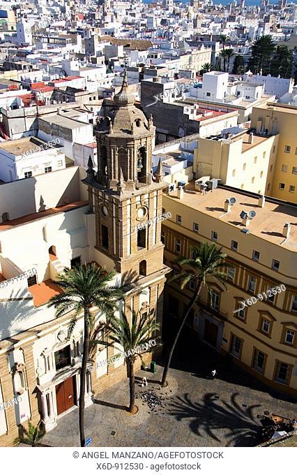 Cathedral square. Cadiz. Spain