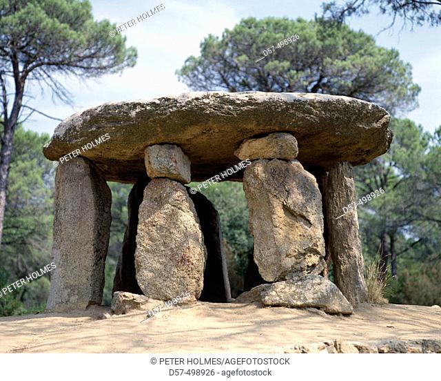 Dolmen of Pedra Gentil. Vallgorguina. Barcelona province. Spain