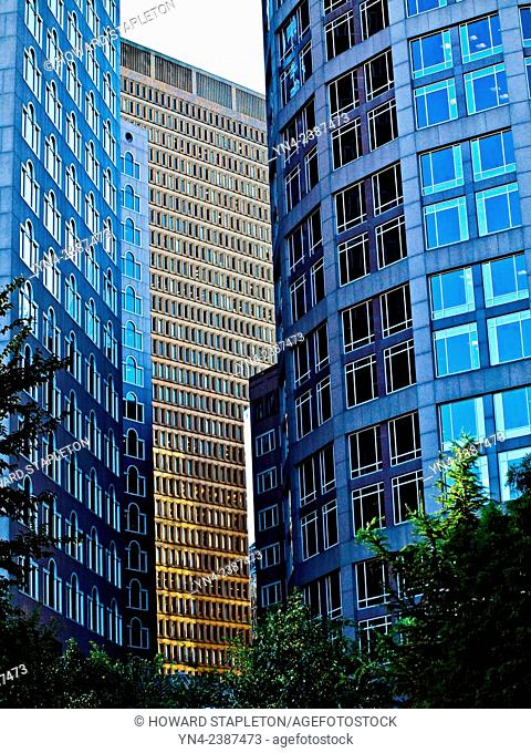Modern high-rise buildings in downtown Boston, Massachusetts
