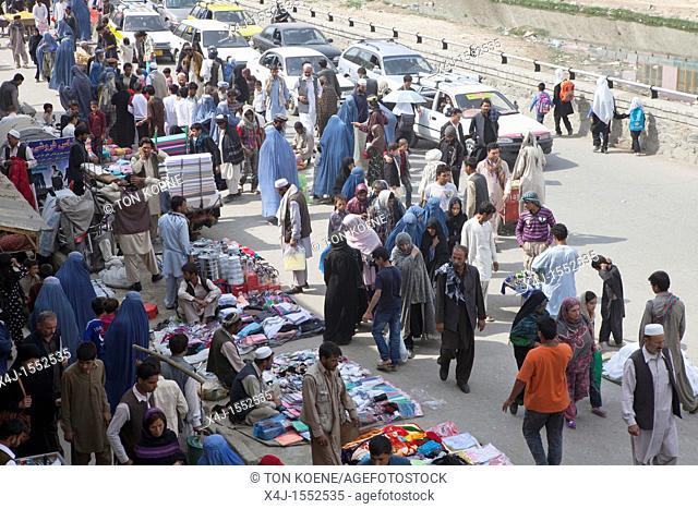 Bazaar in downtown kabul, Afghanistan
