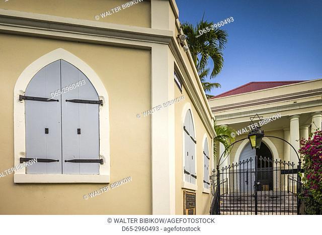 U. S. Virgin Islands, St. Thomas, Charlotte Amalie, Charlotte Amalie Synagogue, second oldest Jewish temple in the Western Hemisphere, exterior