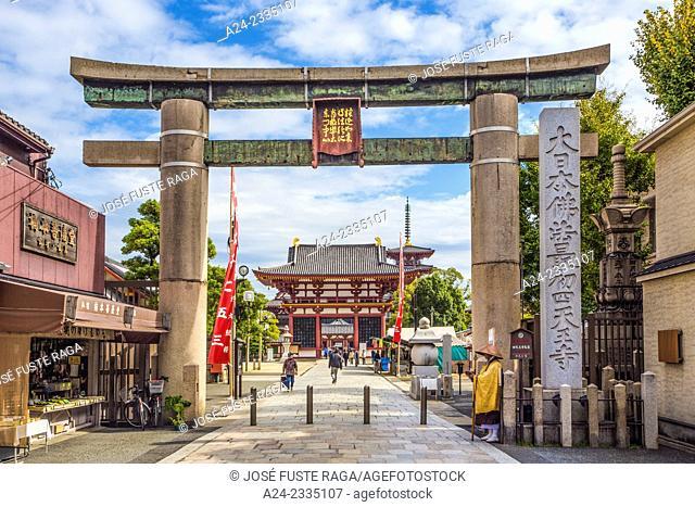 Japan , Kansai , Osaka City, Shitennoji Temple