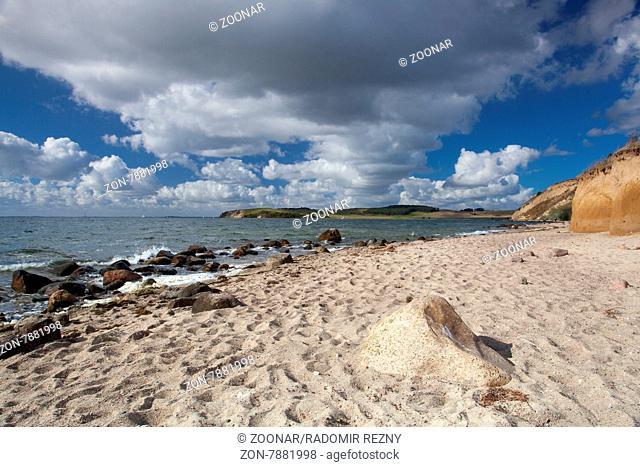 On the dramatic coast of the Baltic Sea, Ruegen Island, Germany