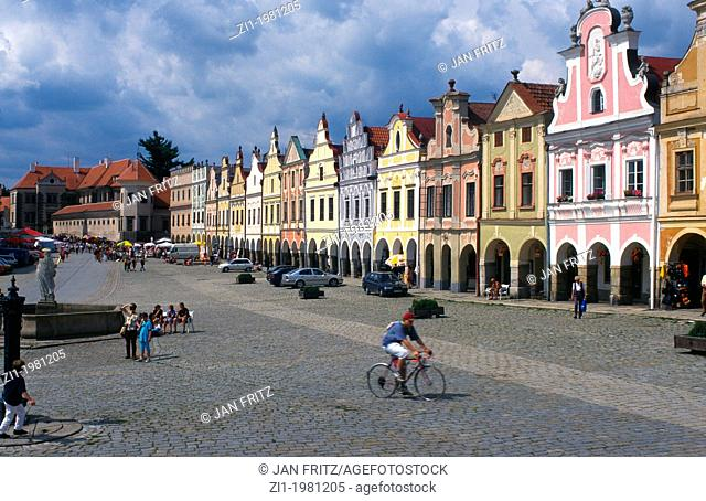 the historic centre of Telc at Czech