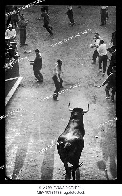 The Feast of Catholic Saint San Fermin is associated with the Encierro or Running of the Bulls at Pamplona ( capital of Navarre - Spain ) made famous by Ernest...