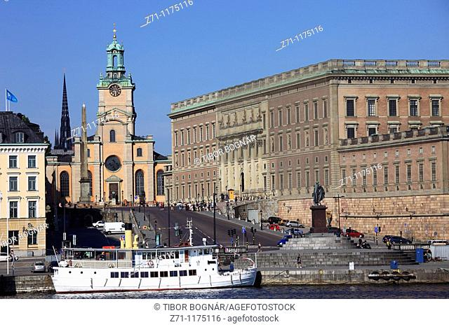 Sweden, Stockholm, Gamla Stan, Royal Cathedral, Royal Palace