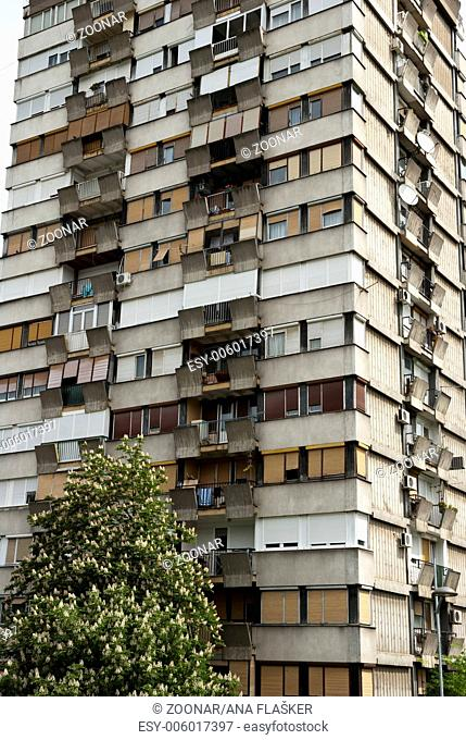 Typical socialistic block in Serbia