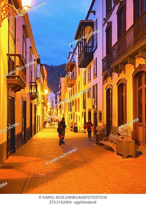 Street on the old town of Santa Cruz de La Palma, Canary Islands, Spain